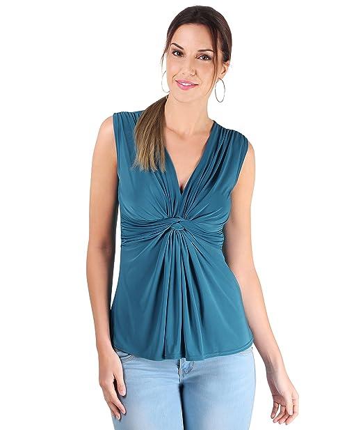 KRISP Camiseta Mujer Verano 2018 Top Fiesta Barato Boda Escote Vestir: Amazon.es: Ropa y accesorios