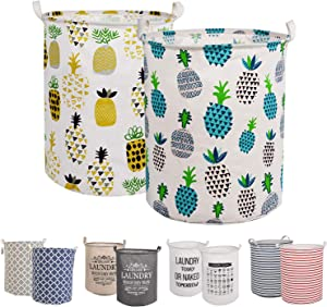 """LessMo 2PCS Laundry (Pineapple, Thickened 19""""/Large)"""