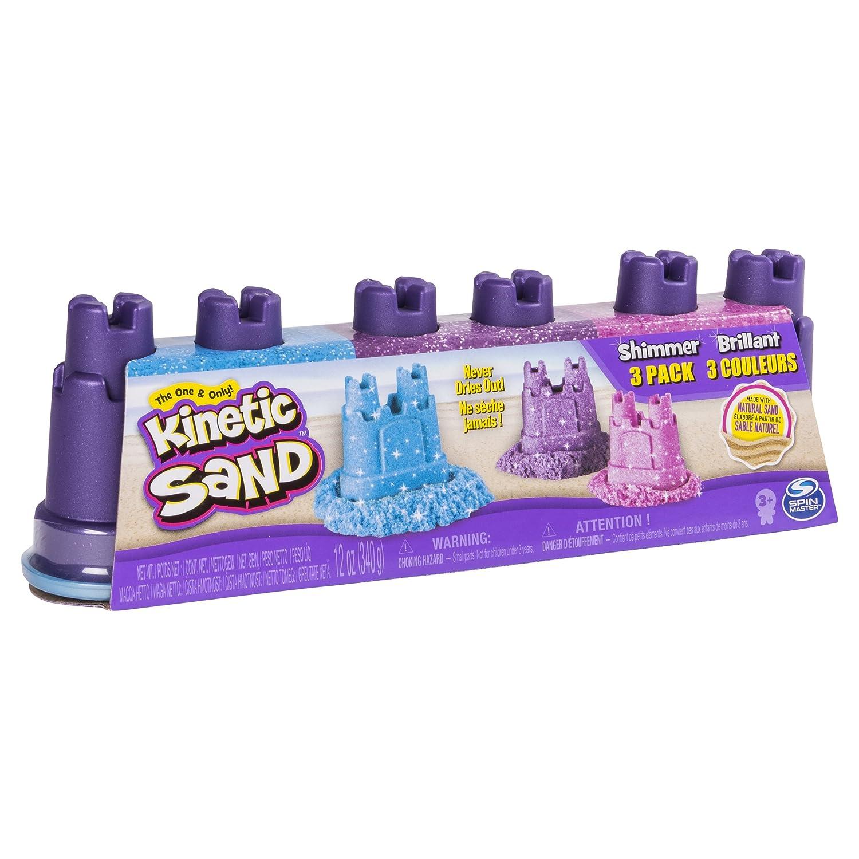 Kinetic Sand Shimmering Sand Multi-Pack w// Molds Standard Spin Master 6038015