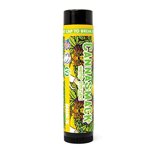 The CannaSmack Vegan Hemp Lip Balm travel product recommended by Nikola Djordjevic on Pretty Progressive.