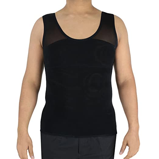 278bbb81 Image Unavailable. Image not available for. Color: Confidence Bodywear Men's  Gynecomastia Compression Shirt to Hide Puffy Nipples & Man Boobs Or Moobs  ...