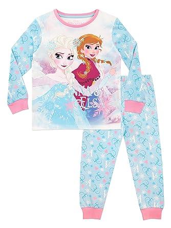 10bd2b7dc Disney Girls Frozen Pyjamas  Amazon.co.uk  Clothing