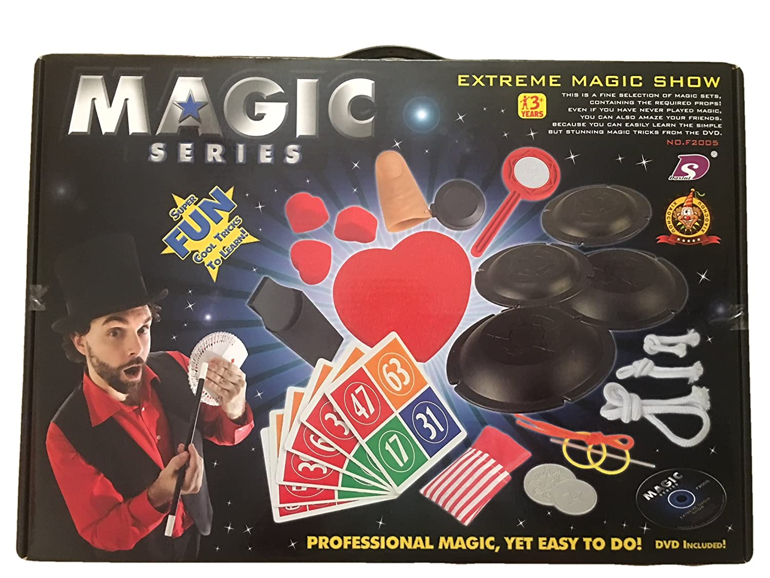 Amazon.com: Magic Tricks Set for Kids - Beginners Level - DVD With  Instructions Included: Toys & Games