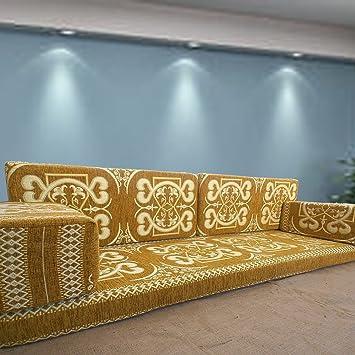 Handgefertigt Boden Sofa Set Arabisch Majlis Jalsa Platz Couch