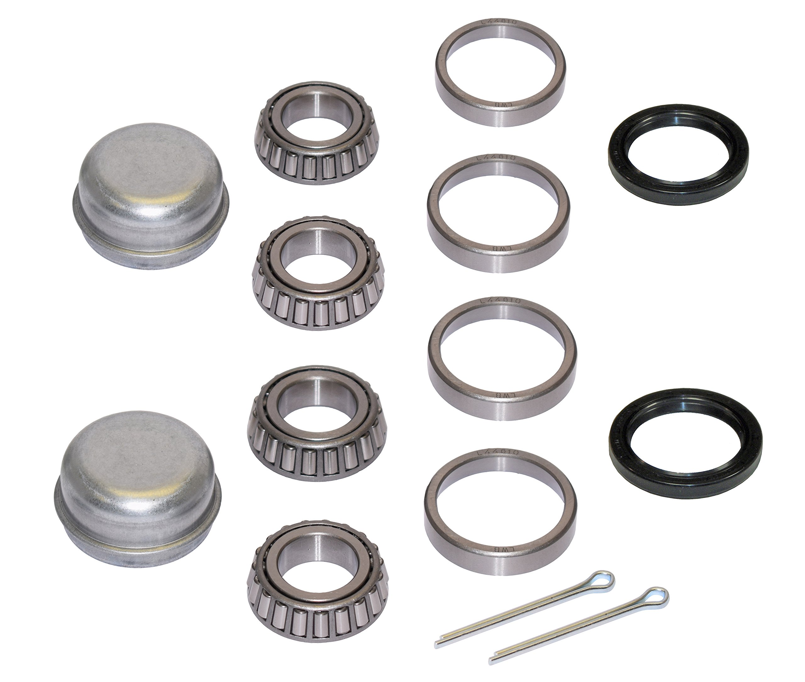 Pair of Trailer Bearing Repair Kits for 1-1/16 Inch Straight Spindles by Rigid Hitch
