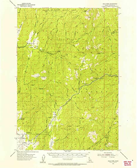 Amazon.com : YellowMaps Gold Fork ID topo map, 1:62500 Scale ...
