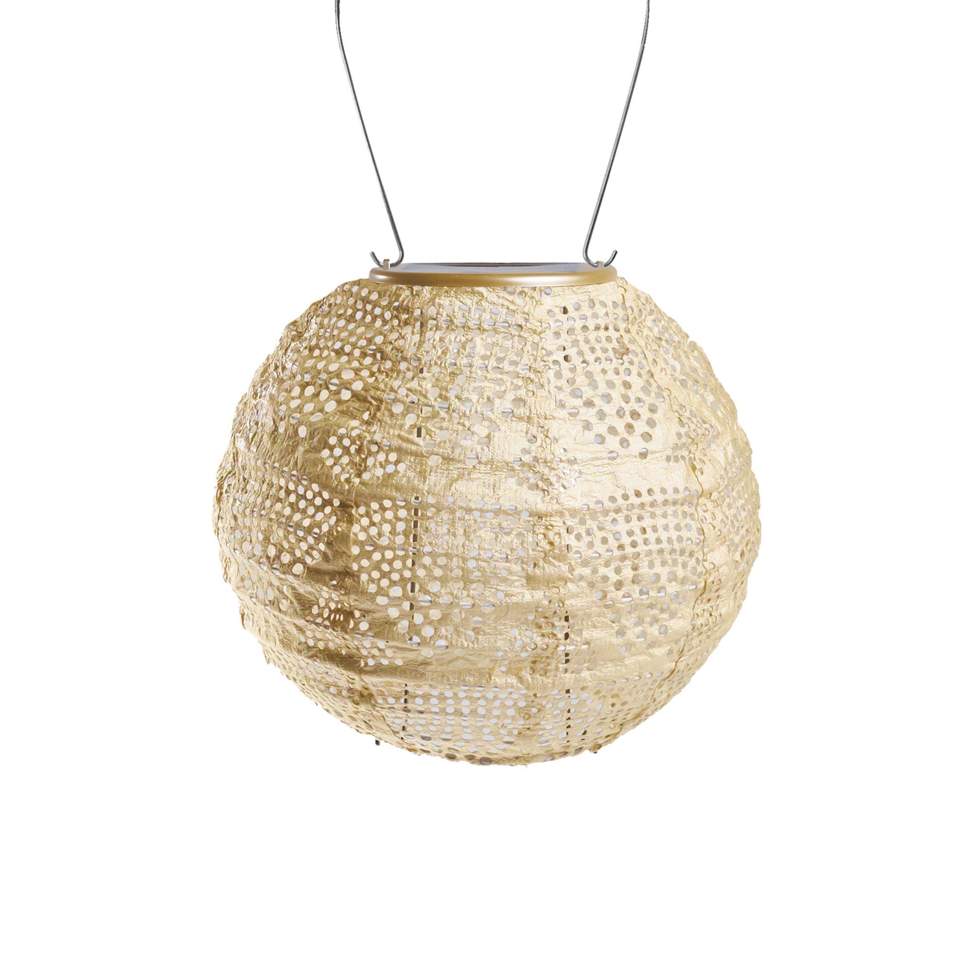 Allsop Home & Garden 31771 Soji Stella Solar Lantern, Pearl Wave Globe