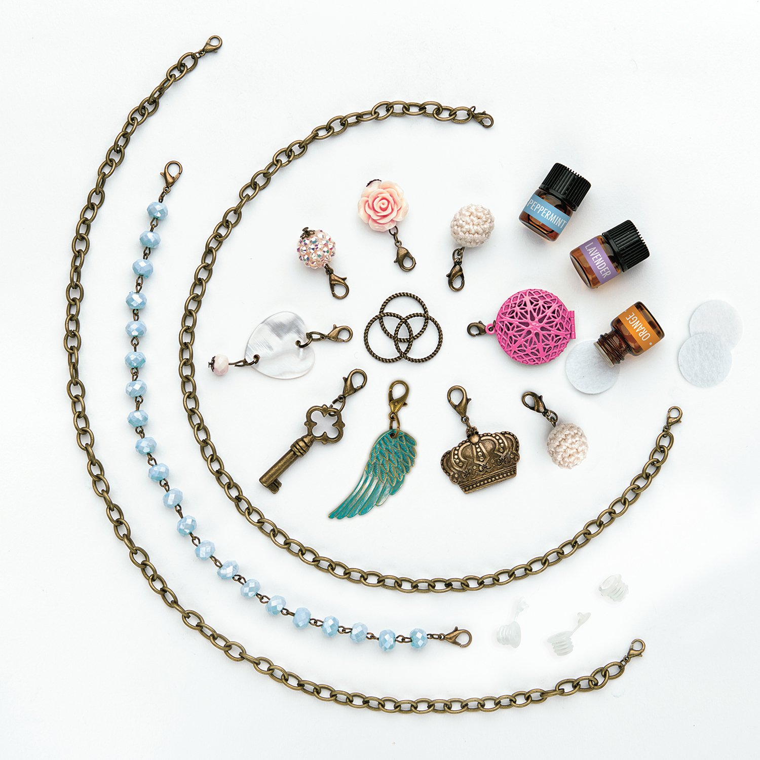 CRAFTIVITY AromaJewelry Lovely Lockets - Essential Oil Jewelry Making Kit by CRAFTIVITY (Image #3)