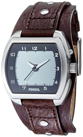 fossil bg2195 gents kaleido black leather cuff strap watch fossil rh amazon co uk