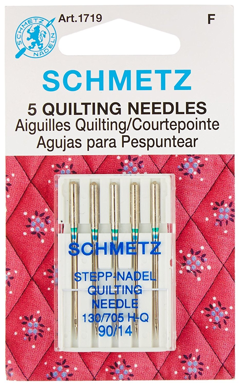 Euro-Notions 71834 Quilt Machine Needles-Size 14/90 5/Pkg Notions - In Network