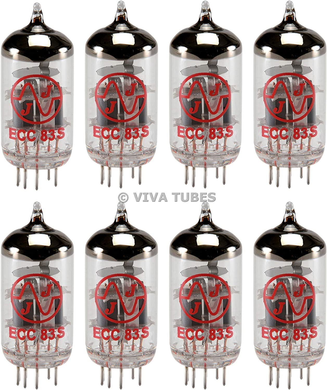 New In Box Gain Matched Pair JJ Electronics Tesla 12AX7 ECC83-S Vacuum Tubes