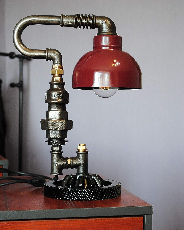 Amazon.com: Steampunk pipe lamp Metal lamps Machine age lamp ...