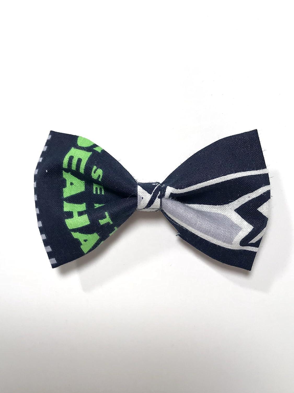 Seattle Seahawks Hair Bow with Alligator Clip, Girl's Hair Bow 3