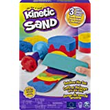 Kinetic Sand 6053691 Rainbow Mix Set with 3 Colours (382g) and 6 Tools, for Kids Aged 3 and Up, Multicoloured
