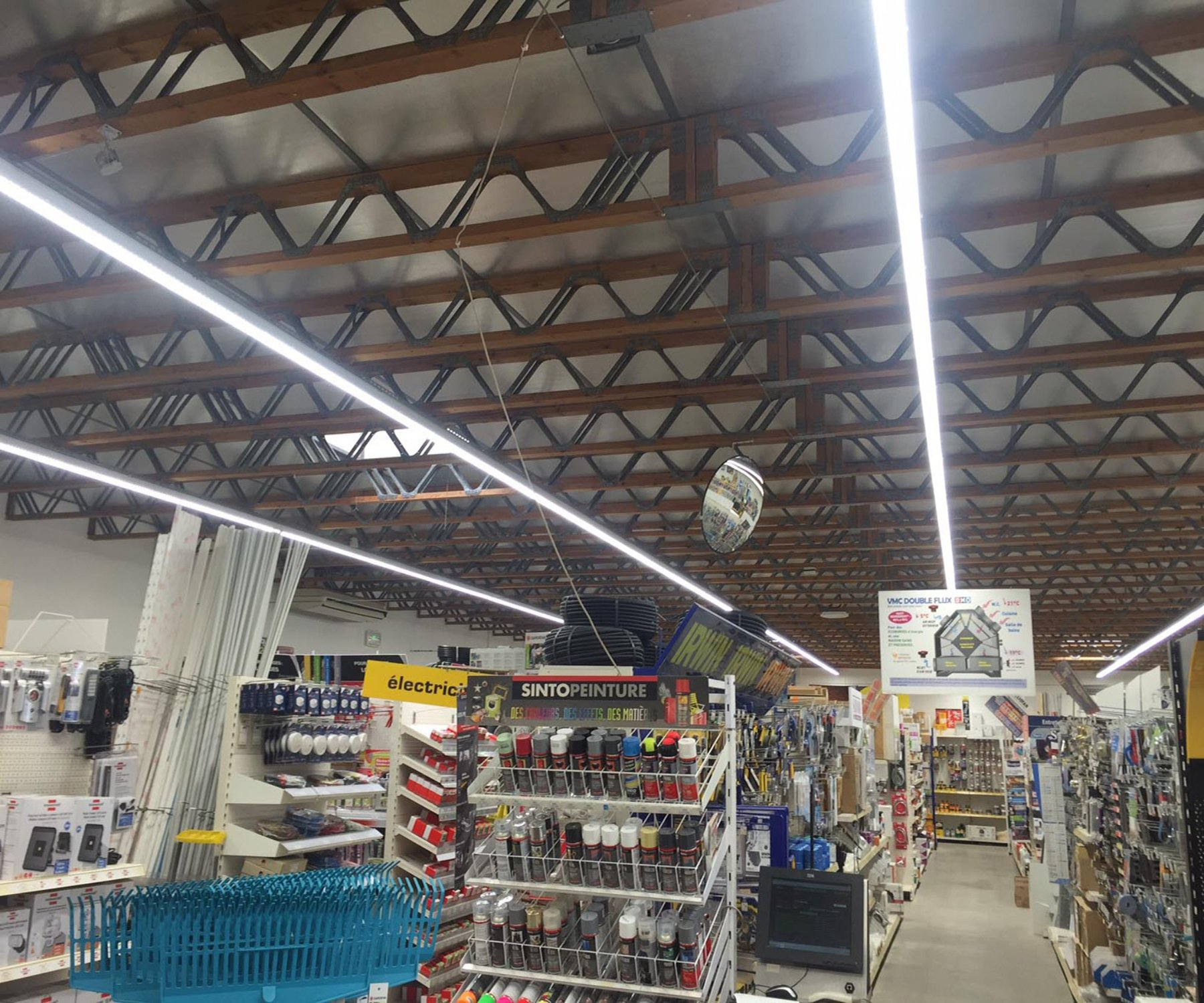 Linkable Led Shop Light: FaithSail 8FT LED Strip Lights Linkable Linear LED Shop