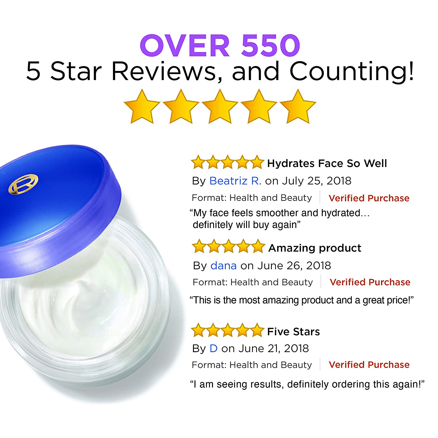 Collagen Face Moisturizer by L'Oreal Paris Skin Care I Day and Night Cream  I Anti-Aging Face Cream to Smooth Wrinkles I Non-Greasy I 1 7 oz