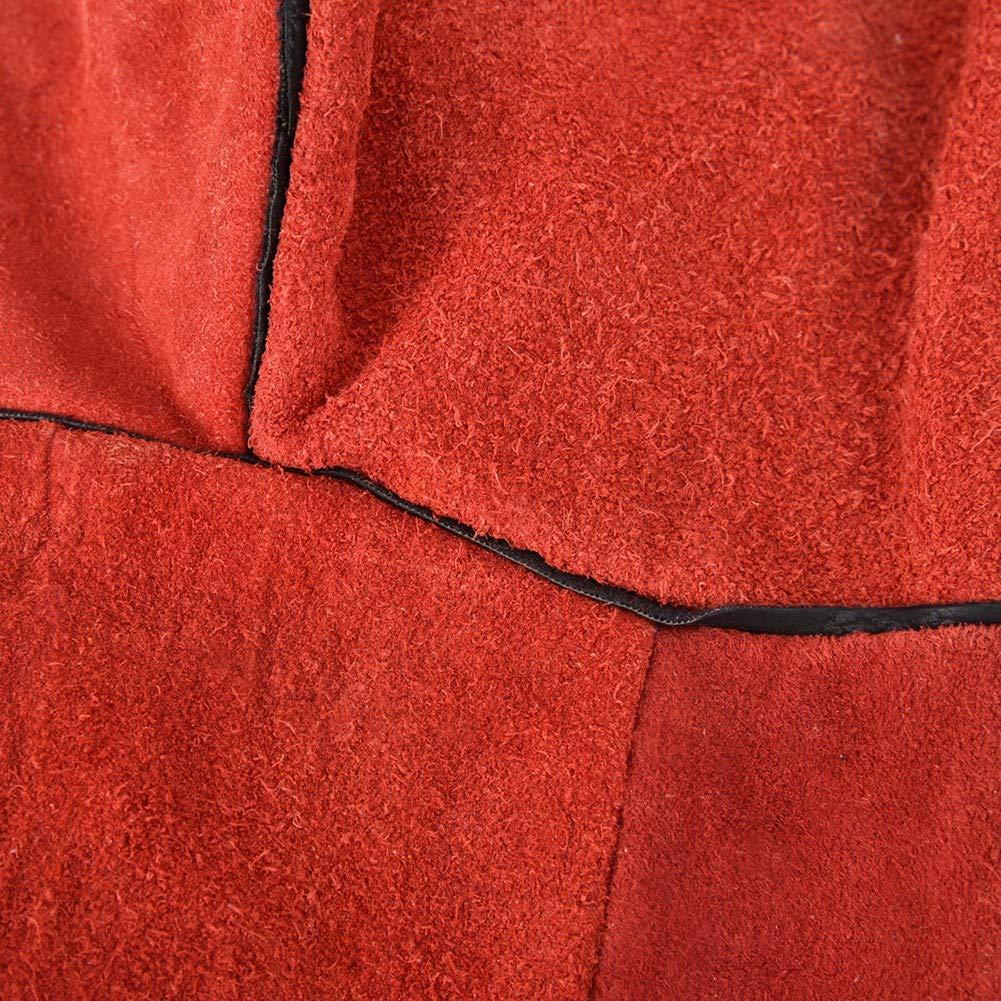 Guantes de trabajo de soldadura de cuero Par de guantes de soldadura de cuero de vaca dividida Guantes antidesgaste resistentes al calor Amarillo