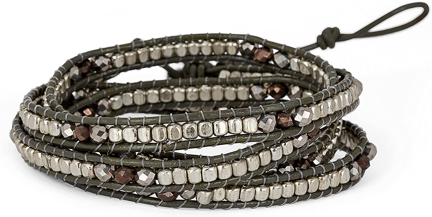 SPUNKYsoul Leather Faceted...