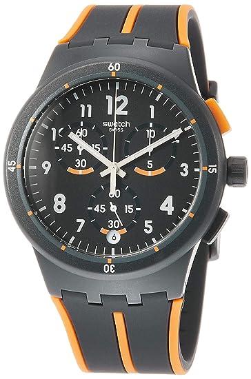 Swatch Reloj Analógico para Hombre de Cuarzo con Correa en Silicona  SUSA402  Amazon.es  Relojes bb14b56554fd
