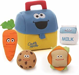 GUND Sesame Street Cookie Monster Lunch Box Playset