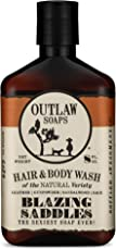 Blazing Saddles Natural Hair and Body Wash - The Sexiest Hair and Body Wash Ever - Western Leather, Gunpowder, Sandalwood, and Sagebrush - Men's and Women's