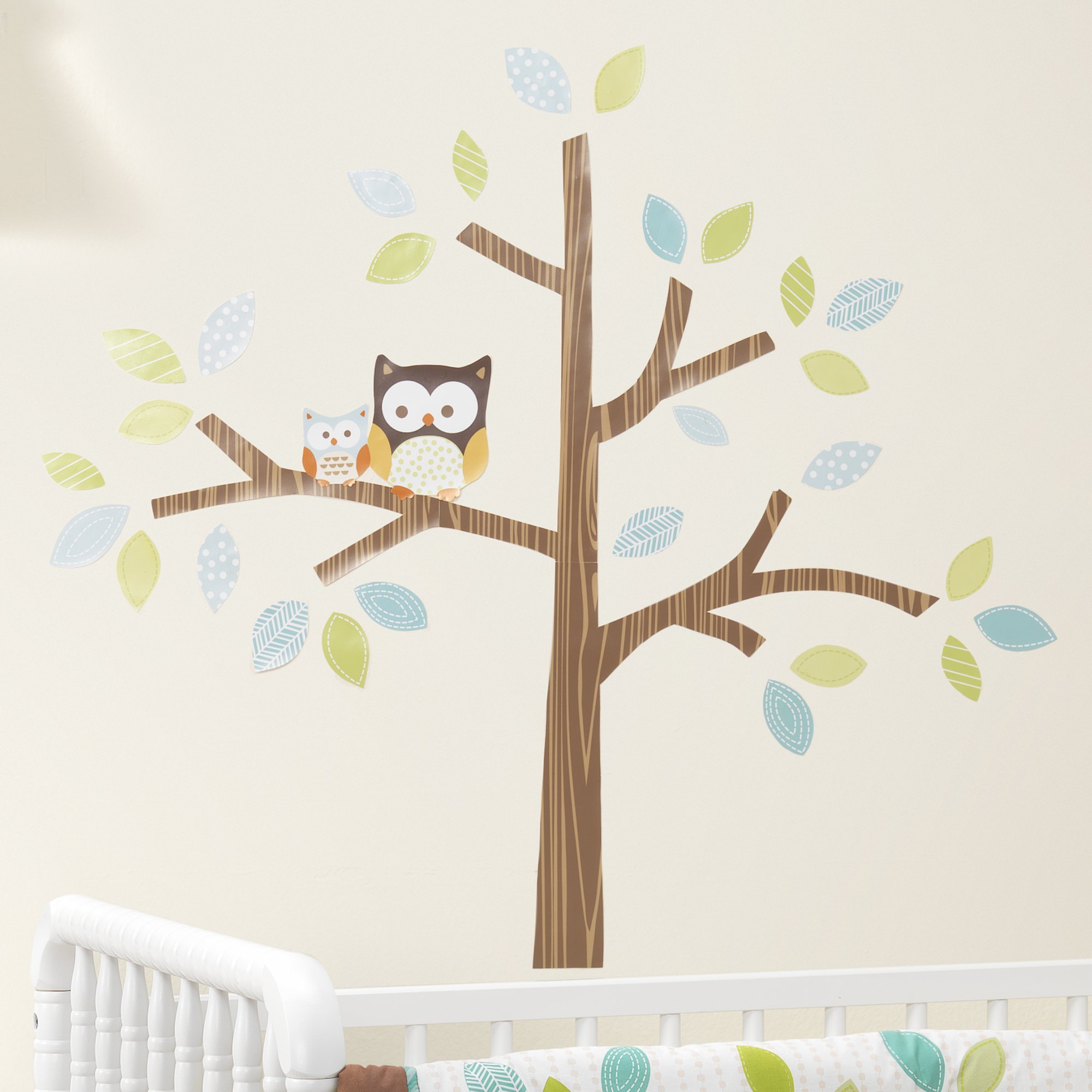 Bedtime Originals Friendly Forest Woodland Wall Appliques Green Brown