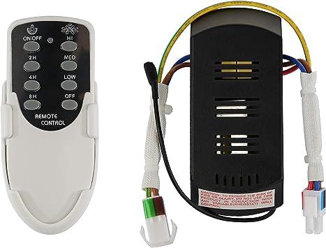 Mando control remoto función sleep para ventilador de techo ...
