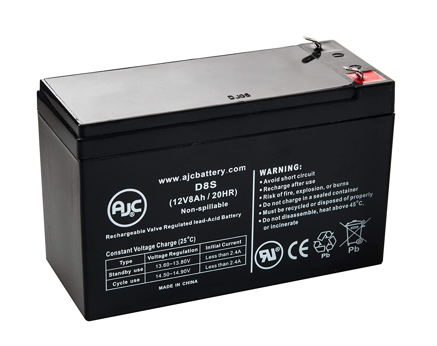 Razor E300 E 300 13113640 12V 8Ah Scooter Battery - This is an AJC Brand Replacement AJC Battery