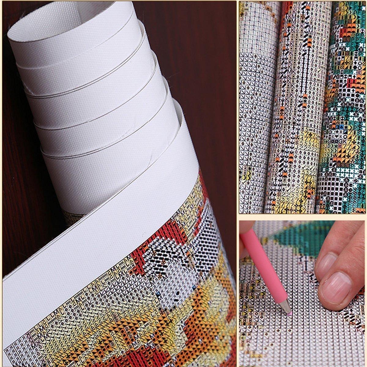 manualidades para decorar la pared de tu casa dise/ño con pavo rosa sobre una rama Cuadro con diamantes de imitaci/ón bordados 5D de 30 x 40 cm