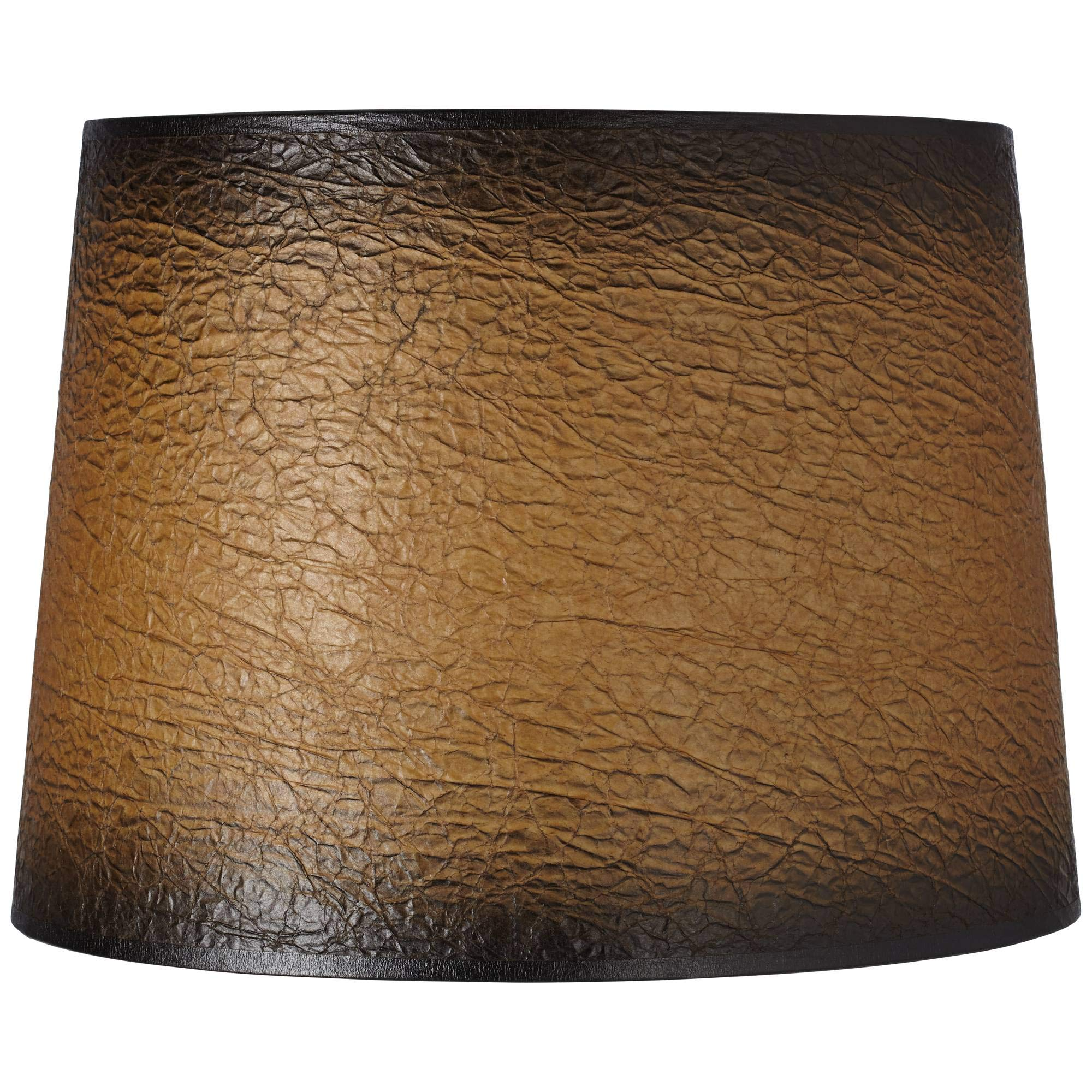 Distressed Faux Paper Lamp Shade 13x15x11 (Spider) - Brentwood