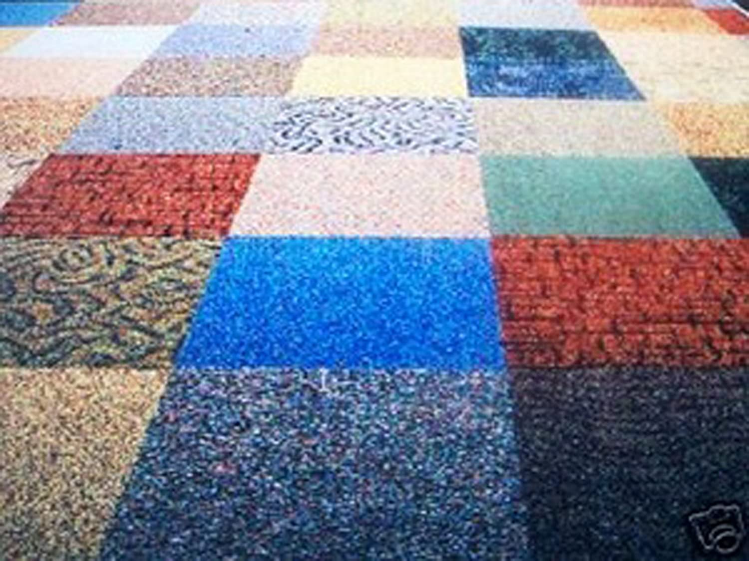 Commercial Carpet Tile - Random Assorted Colors: Household Carpeting ...