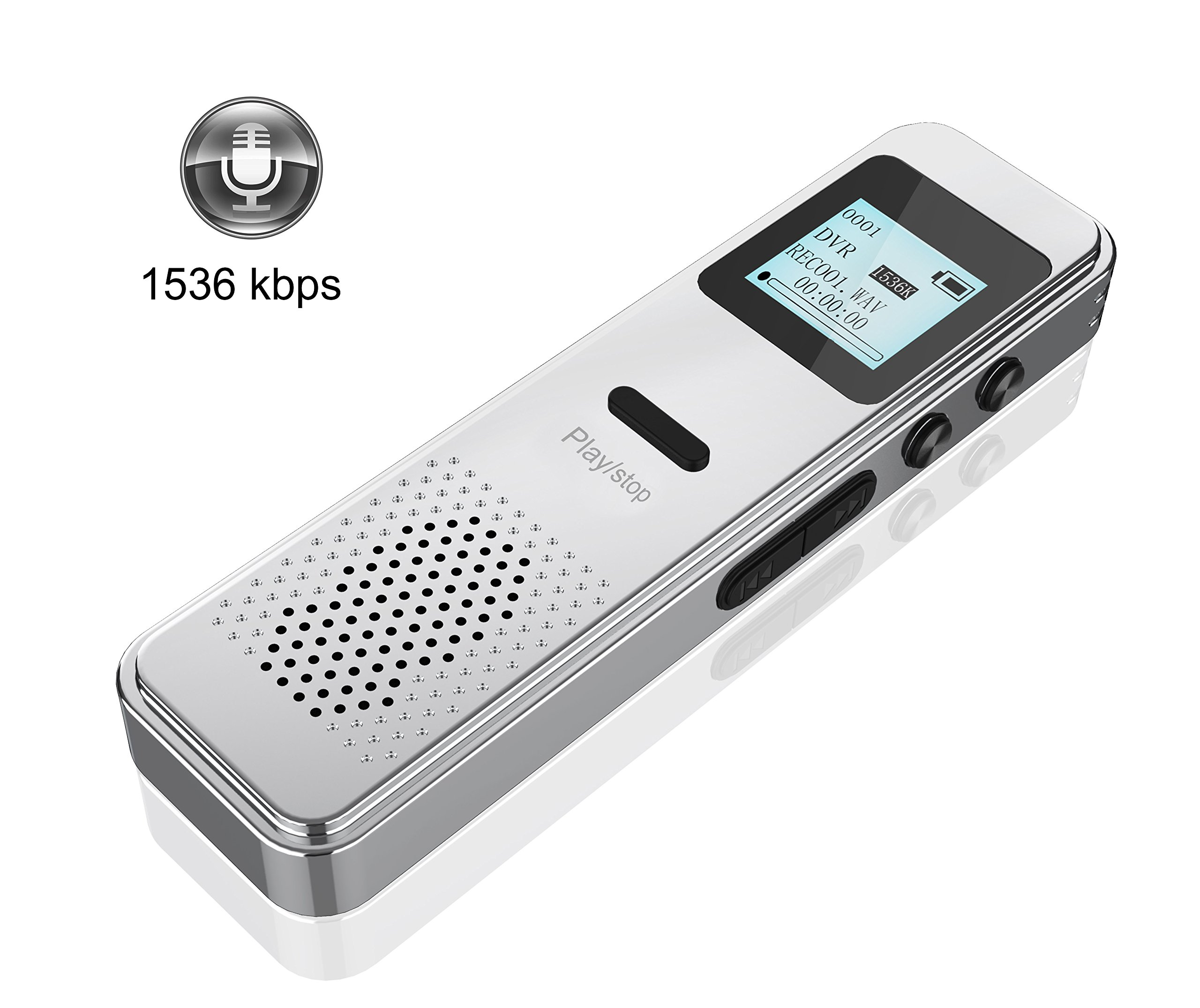 8G Digital Voice Recorder,Valoin 2018 Latest Digital Audio Sound Dictaphone Lossless Sound 1536 kbps Metal Body Voice Recorder for Lecture Meeting Interview Recording