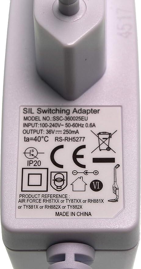 Rowenta RS-RH5277 - Cable de alimentación para RH877101, RH875301, RH877501, RH875801: Amazon.es: Hogar