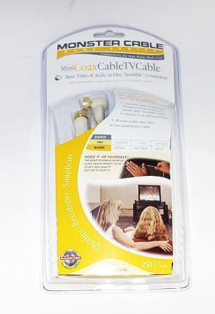 Monster Cable Mini Cable Coaxial TV en ángulo derecho de perfil ...