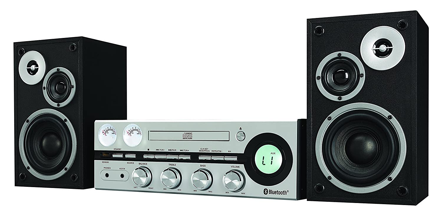 Classic retro bluetooth stereo system with cd player fm for Classic house cd