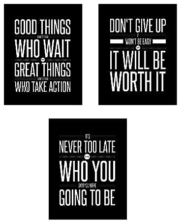 Amazoncom Dont Give Up 3 Poster Set Motivational Inspirational
