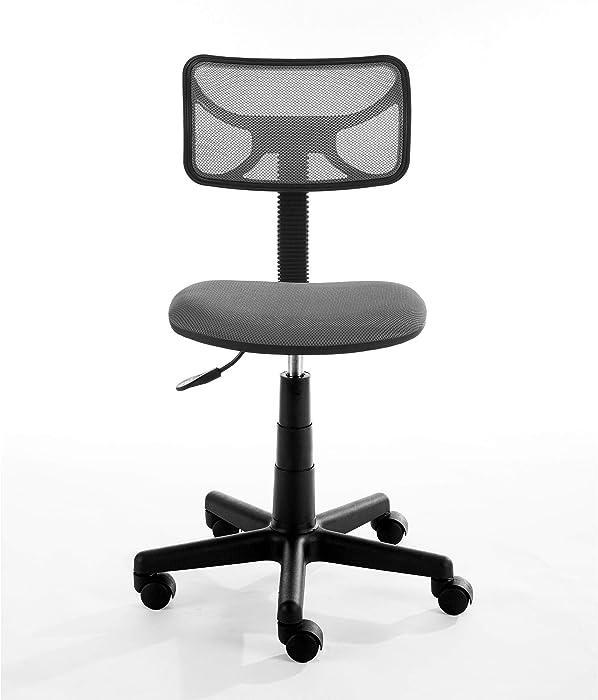 Urban Shop Swivel Mesh Task Chair, Grey