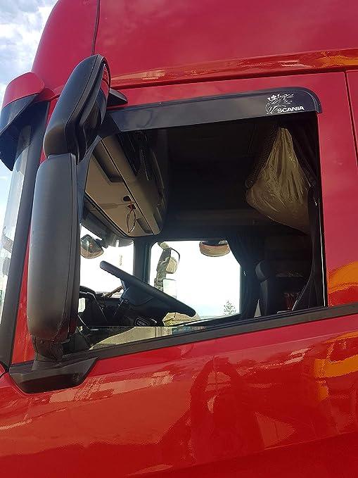Fenster Seitenwindabweiser get/önt f/ür LKW LKW 2er Set Spezifische Windabweiser f/ür Regen LKW Kabinenzubeh/ör