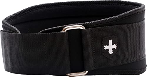 Harbinger 5-Inch Weightlifting Belt with Flexible Ultra-light Foam Core, Black, Large 33 – 37 Inches