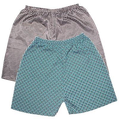 Alion Men Long Satin Lounge Print Bathrobe Charmeuse Sleepwear with Pockets