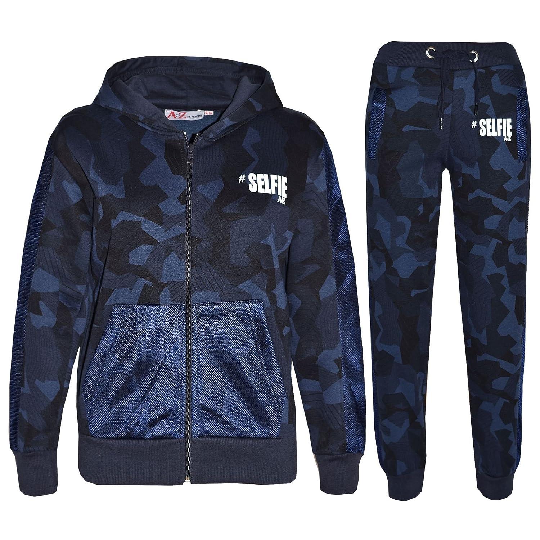 A2Z 4 Kids® Kids Tracksuit Boys Girls Designer's #Selfie Camouflage Print Hoodie & Botom Jogging Suit 5 6 7 8 9 10 11 12 13 Years