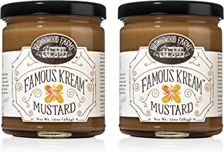 product image for Famous Kream Mustard - Brownwood Farms - 10 oz, 2 pack - Sweet, Hot, Creamy and Delicious - Gluten Free Dip & Glaze For Snacks and Seafood