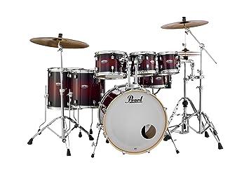 Pearl Drum Set, Gloss Deep Red Burst, inch (DMP927SPC261)