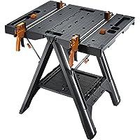 Worx WX051 Pegasus Mesa de trabajo multifunción ycaballete con prensas y clavijasde sujeción