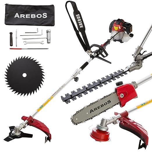 Arebos - Herramienta 4 en 1, cortasetos/motosierra ...