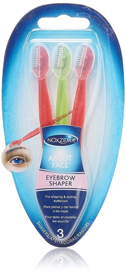 Amazon Noxzema Eyebrow Shaper 3 Count Small Compact Razors