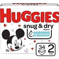 Huggies Snug & Dry Baby Diapers, Size 2, 34 Ct
