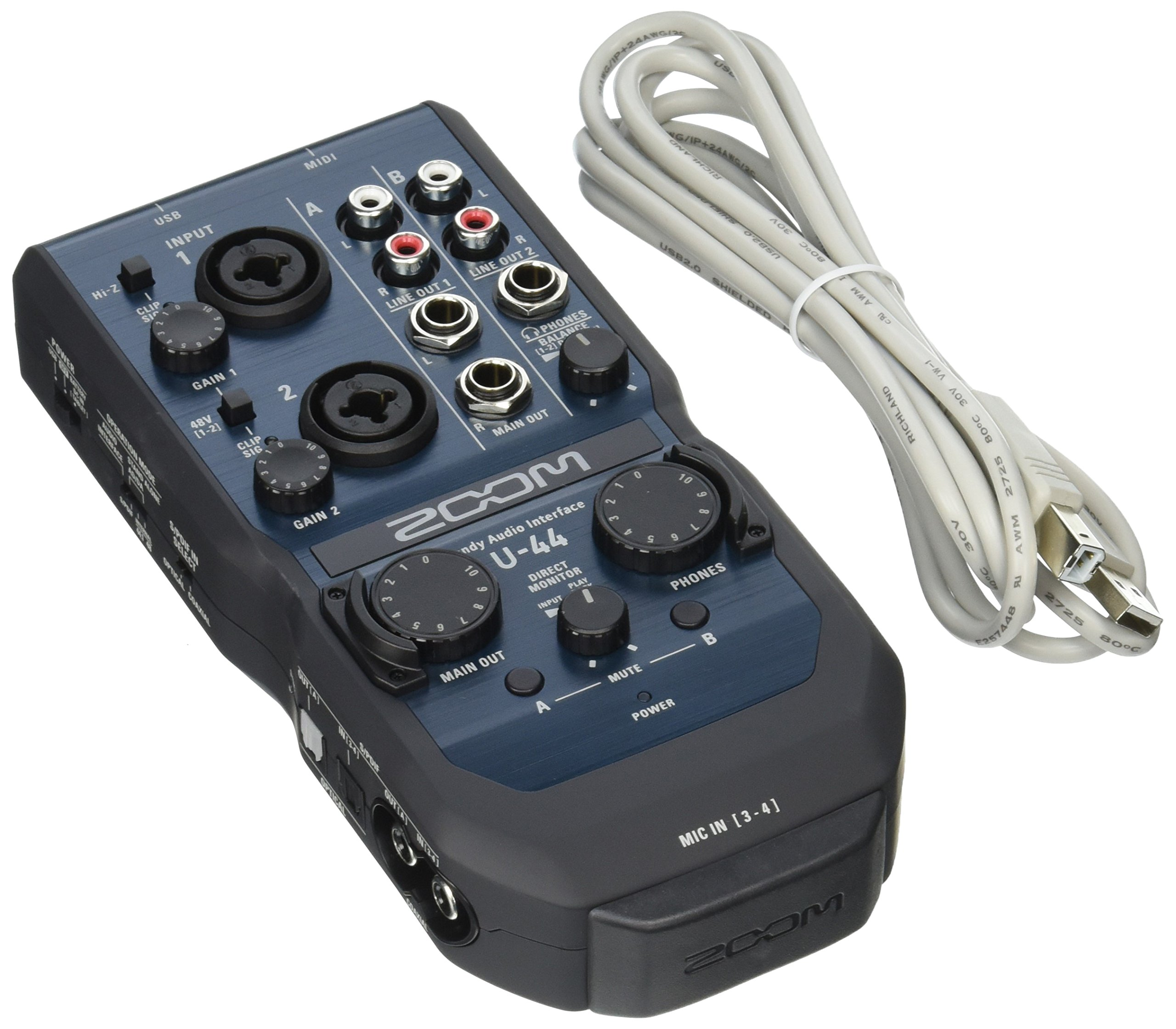 Zoom U-44 - Interfaz de audio de canal