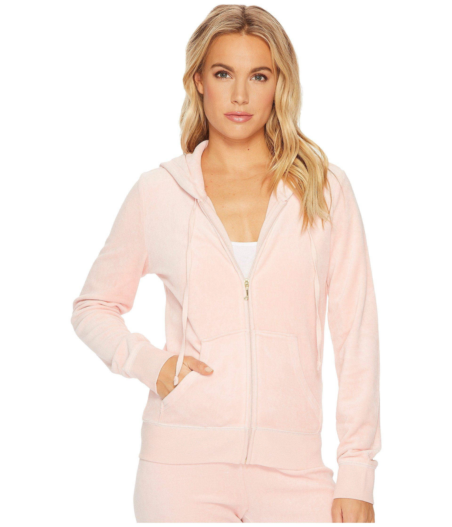 Juicy Couture Women's Robertson Velour Jacket Sugared Icing Petite / X-Small