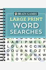 Brain Games - Large Print Word Searches (Teal) Spiral-bound